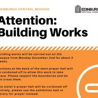 Attention: Building Works at the Mosque
