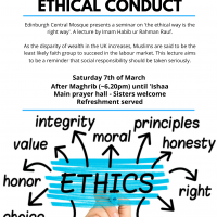 Lecture: The Importance of Ethical Conduct