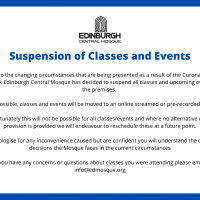 Suspension of Classes and Events