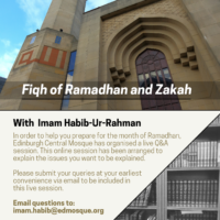 Q&A Session: Fiqh of Ramadan and Zakah